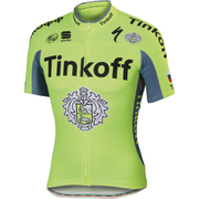 Tinkoff BodyFit Pro Team Short Sleeve Jersey 2016 - Yellow