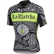 Tinkoff La Datcha BodyFit Team Short Sleeve Jersey 2016 - Black/White