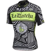 Tinkoff La Datcha BodyFit Team Short Sleeve Jersey 2016 - Black/White