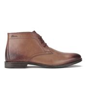 Clarks Men's Hawkley Rise Leather Desert Boots - Tan
