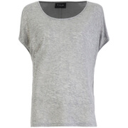 VILA Women's Visumi Short Sleeve Top - Light Grey Melange