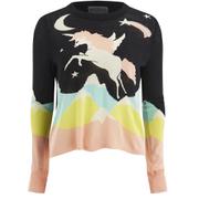 Wildfox Women's Land Faraway Venice Opal Sweatshirt - Black Multi