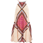 "MINKPINK Women's ""African Trance"" Apron Neck Swing Dress With Tassle - Multi"