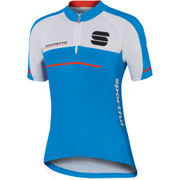 Sportful Gruppetto Children's Short Sleeve Jersey - Blue/White/Red