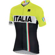 Sportful Italia IT Short Sleeve Jersey - Black/Yellow