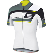 Sportful Gruppetto Pro Team Short Sleeve Jersey - White/Green/Yellow