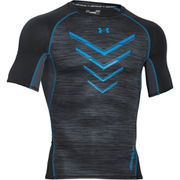 Under Armour Men's HeatGear Armour Twist Flight Compression Short Sleeve Top - Black