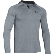 Under Armour Men's Tech Popover Henley Hoody - Grey