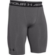 Under Armour Men's HeatGear Long Compression Shorts - Carbon Heather/Black