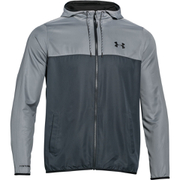 Under Armour Men's Lightweight Windbreaker Jacket - Grey/Black