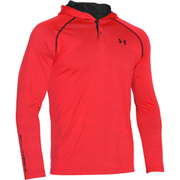 Under Armour Men's Tech Popover Henley Hoody - Red