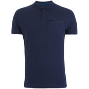 Smith & Jones Men's Mascaron Zip Pocket Polo Shirt - Navy Blazer