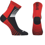 Northwave Sonic 12cm Cuff Socks - Black/Red