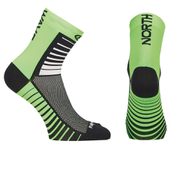 Northwave Sonic 12cm Cuff Socks - Black/Green Fluo