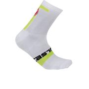 Castelli Meta 9 Socks - White/Yellow
