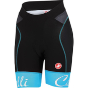 Castelli Women's Free Aero Shorts - Black/Blue/Pink