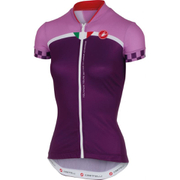Castelli Women's Duello Short Sleeve Jersey - Purple