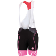 Castelli Women's Free Aero Bib Shorts - Black/Pink
