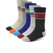 Oakley Performance 5 Pack Basic Crew Socks - Mixed