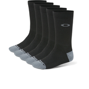 Oakley Performance 5 Pack Basic Crew Socks - Black