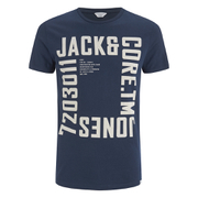 Jack & Jones Men's Core Wall T-Shirt - Navy Blazer
