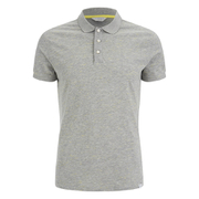 Jack & Jones Men's Core Blast Fleck Polo Shirt - Light Grey Marl