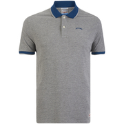 Jack & Jones Men's Originals Tipping Polo Shirt - Light Grey Marl