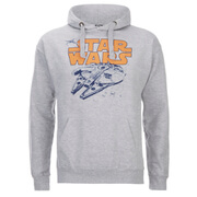 Star Wars Mens Retro Falcon Hoody - Grijs