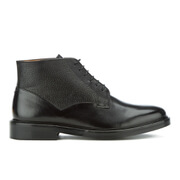 Paul Smith Shoes Men's Munari Leather Lace Up Boots - Black