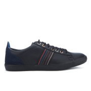 PS by Paul Smith Men's Osmo Leather Trainers - Black Mono Lux