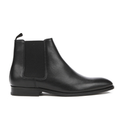 Paul Smith Shoes Men's Gerald Grain Leather Chelsea Boots - Black Oxford Dax Grain