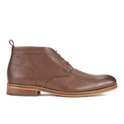 H Shoes by Hudson Men's Lenin Leather Desert Boots - Brown