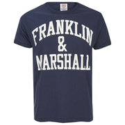 Franklin & Marshall Men's Large Logo T-Shirt - Navy