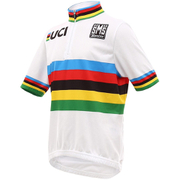 Santini UCI World Road Champion Kid's Short Sleeve Jersey - White