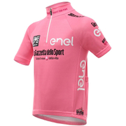 Santini Giro d'Italia 2016 Leaders Kids' Short Sleeve Jersey - Pink