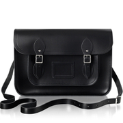 The Cambridge Satchel Company Women's 14 Inch Leather Satchel - Black