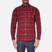 Carhartt Men's Long Sleeve Carlos Origin Shirt - Carlos Check Chianti