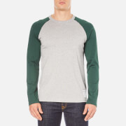 Carhartt Men's Long Sleeve Dodgers T-Shirt - Grey Heather/Conifer