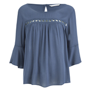 ONLY Women's Theo Lace Top - Vintage Indigo