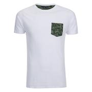 Brave Soul Men's Pulp Camo Pocket T-Shirt - White