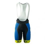 Ale PRR Bermuda Bib Shorts - Blue/Yellow