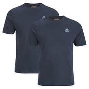 Kappa Men's Nico 2 Pack T-Shirts - Navy