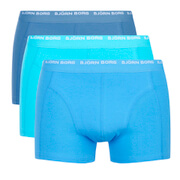 Bjorn Borg Men's 3 Pack Boxer Shorts - Dresden Blue