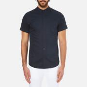 Selected Homme Men's Doneryder Short Sleeve Shirt - Dark Sapphire