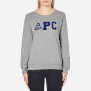 A.P.C. Women's APC Logo Sweatshirt - Grey