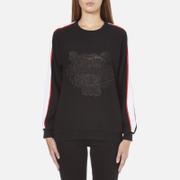 KENZO Women's Contrast Side Stripe Tiger Sweatshirt - Black