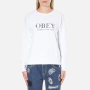 OBEY Clothing Women's Obey Vanity Sweatshirt - White