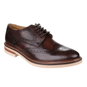 Base London Men's Apsley Brogue Shoes - Brown