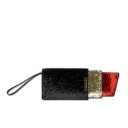 Lulu Guinness Women's Glitter Lipstick Pouch - Black/Red