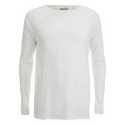 Nudie Jeans Men's Otto Raw Hem Long Sleeve Top - Ecru